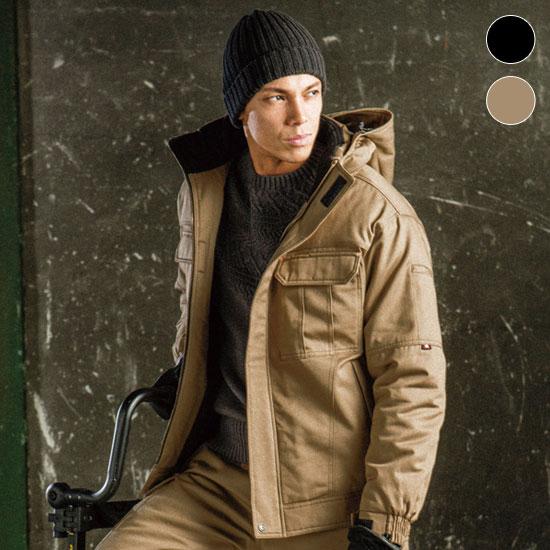 チノクロス防寒ジャケット[大型フード付]綿100%(03-8110)