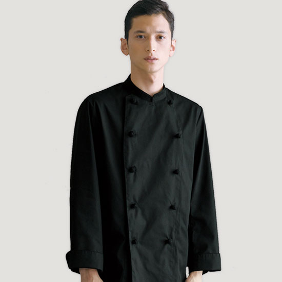 ブラックコックコート/長袖[男女兼用](31-AS8048)【チトセ】