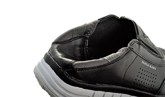 かかとを踏んで履ける安全靴