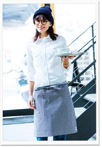 Lee  カフェユニフォーム モデル画像