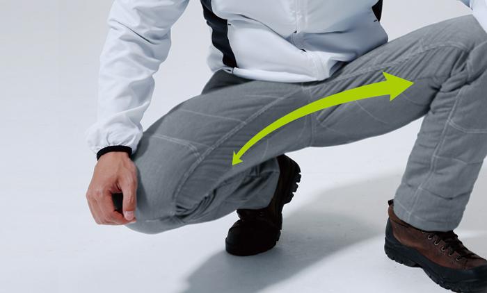 細身の防寒パンツはストレッチ性がポイント