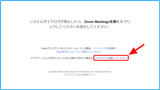 Zoomの説明画面
