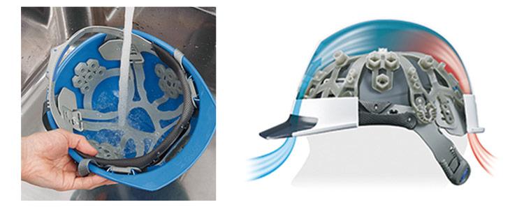 涼しいヘルメットの洗えるスチロールなし内装