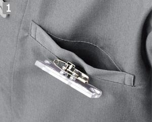 コックシャツ(31-AS8609)の商品詳細「ネームスリット付き」