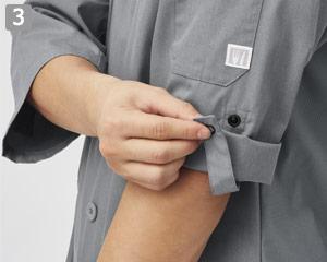コックシャツ(31-AS8609)の商品詳細「ロールアップスリーブ」