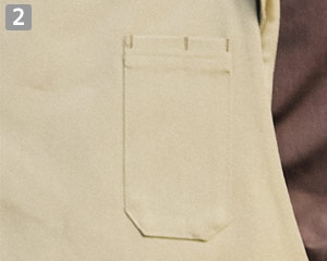 胸当てエプロン(31-T8614)の商品詳細「ペン差しポケット」