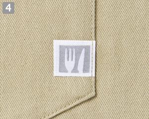 胸当てエプロン(31-T8614)の商品詳細「カトラリーネーム」